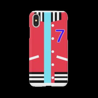 * ( まゆり ) *のスタジャン 赤 Smartphone cases