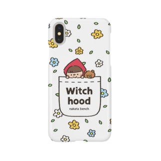Witch hood(花柄ポケット) Smartphone cases