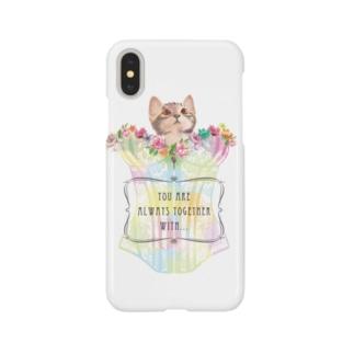 ビスチェ猫 Smartphone cases