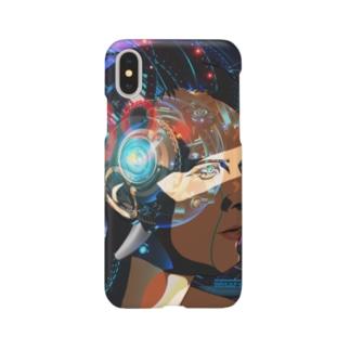 電脳男(iPhoneX用) Smartphone cases