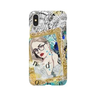 メガネ女子👓 (iPhoneX用) Smartphone cases