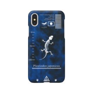 骨格標本 ニホントカゲ スマホケース Smartphone cases