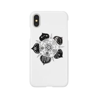 なこのモノクロの花 Smartphone cases