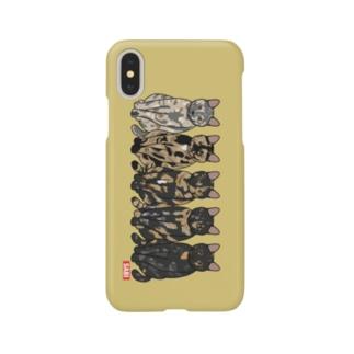 さび猫グラデ Smartphone cases