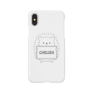 はりちぇるくん「白」 Smartphone cases