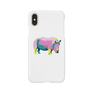 カラフルサイ(kitsuneのポップアートシリーズ) Smartphone cases