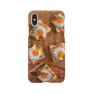 かじりかけベーコンエッグトースト Smartphone cases