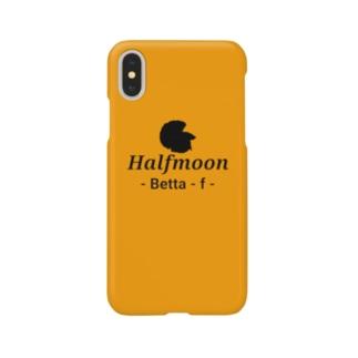 Halfmoon Betta⑤Black(Marigold) Smartphone cases