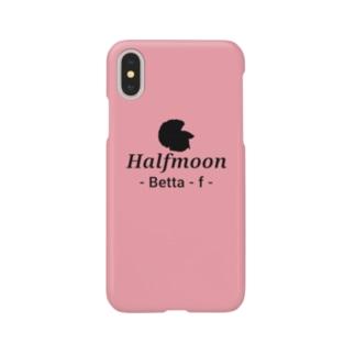 Halfmoon Betta⑤Black(Rosepink) Smartphone cases