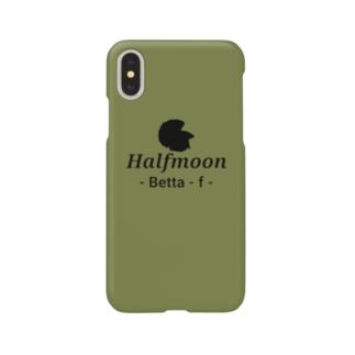 Halfmoon Betta⑤Black(Mossgreen) Smartphone cases