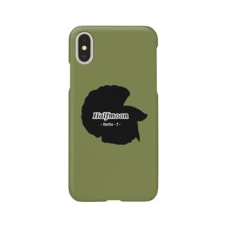 Halfmoon Betta①Black(Mossgreen) Smartphone cases