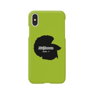 Halfmoon Betta①Black(Springgreen) Smartphone Case