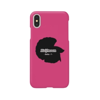 Halfmoon Betta①Black(Azalee) Smartphone Case