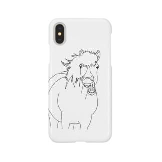 TAKI_ZAWAの歯茎をすごい見せてくる馬 Smartphone cases