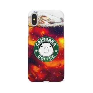ス●バ風 カピバラ (アイスコーヒー) Smartphone cases
