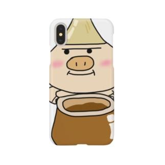とんきょくんスマホケース Smartphone cases