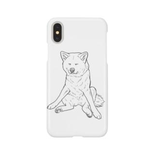 秋田犬の小梅さん Smartphone cases