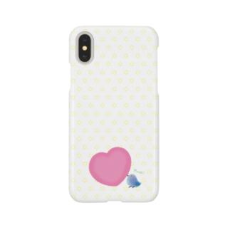 【愛を運ぶ】アオイトリ(スマホケース) Smartphone cases