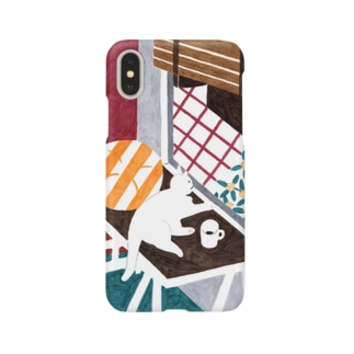 hk_illustrationのねこちゃんとキンモクセイ Smartphone cases