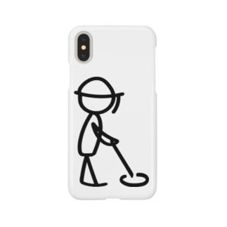 地雷をなくす jokyoin 黒くん Smartphone cases