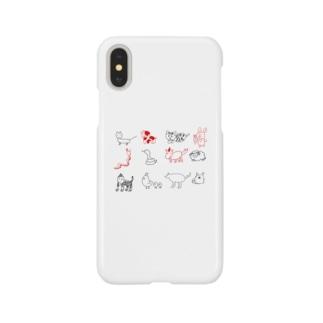 干支さんたち Smartphone cases