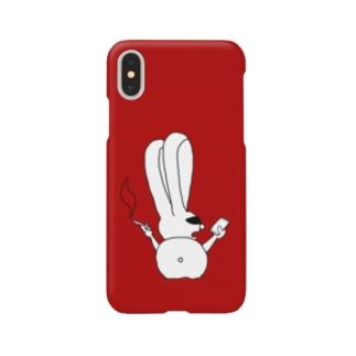 ちょいワルうさぎ 赤 Smartphone cases