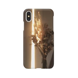 夕暮れにのびる直線 Smartphone cases