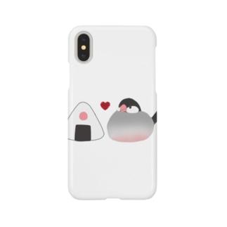 お文鳥&おにぎり Smartphone cases