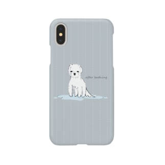 after bathing(gray) Smartphone cases