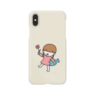 さかもとこのみのグッズやさんのほのぼの女の子 Smartphone cases