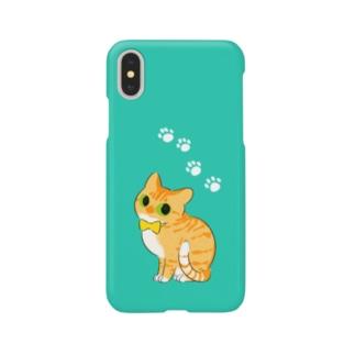 猫茶トラりぼん Smartphone cases