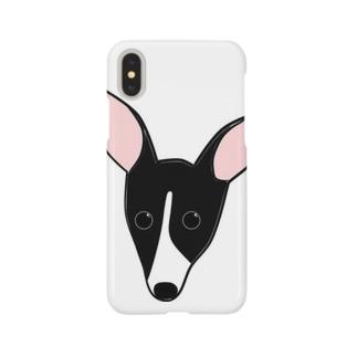シールホワイトのイタグレちゃん Smartphone cases