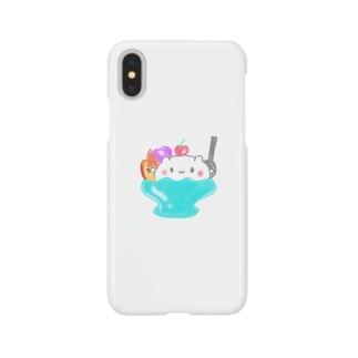 🐻のフルーツパフェ Smartphone cases