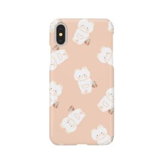 くまねこちゃんパターン Smartphone cases
