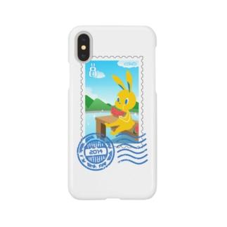 納涼うさぎ切手風 Smartphone cases