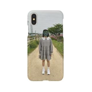 仮面の女の子が道に立ってる Smartphone cases