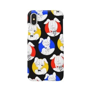 丸バニー黒 Smartphone cases