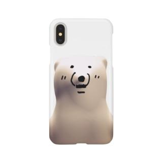 デカデカ(しろくま) Smartphone cases
