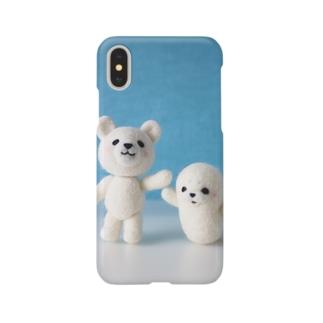 シロクマとアザラシ Smartphone cases