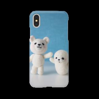 Handmade by Caranfeeのシロクマとアザラシ Smartphone cases