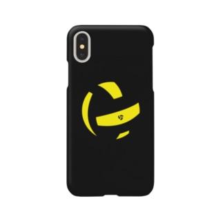 ボールピース(ブラック)iPhoneケース Smartphone cases