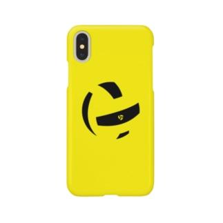ボールピース(イエロー)iPhoneケース Smartphone cases