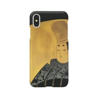 業平蒔絵硯箱 Smartphone cases