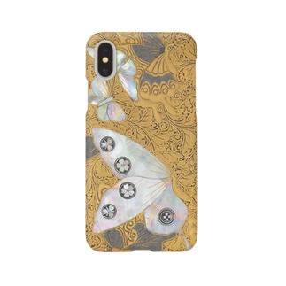 蝶蒔絵小箱 Smartphone cases