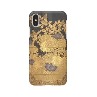 春秋花草蒔絵印籠 Basket of Spring Flowers Smartphone cases