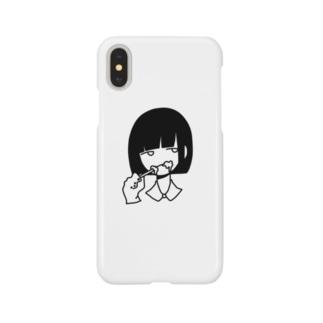 はみがきをする女 Smartphone cases