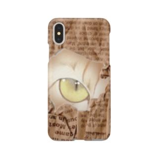 猫ちゃん、覗いてますけど・・・ Smartphone cases
