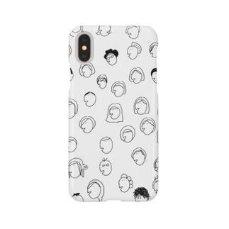 顔の仲間たち Smartphone cases