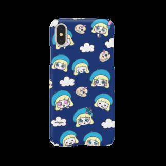 ningen(ニンゲン)の顔だらケース(ステキな紺色) Smartphone cases