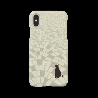 - さらさら -の黒にゃー(石畳) Smartphone cases